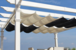 slide on wire canopy, infinity canopy, pergola canopy, slide wire canopy, shade, awning