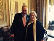U.S. Senator Chuck Schumer and LE&RN Spokesperson Kathy Bates in Washington, D.C.