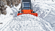 WORX Aerocart Snow Plow Attachment easily moves snow