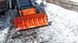 Snow Plow Attachment for WORX Aerocart clears driveways and sidewalks