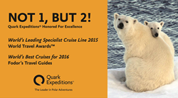 Quark Expeditions® Honored by