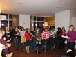 NYC Members and guests enjoying themselves at NAPW NYC's Dec Holiday Party