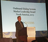 Noble Systems' Henry Danser accepts the Best Practices Award