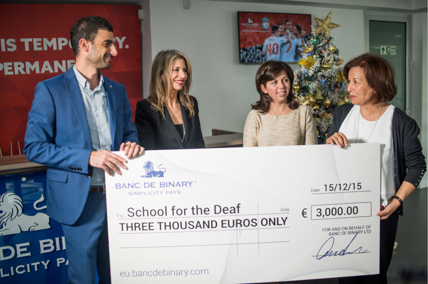 banc de binary gives generous donation to deaf school in cyprus continues commitment to local. Black Bedroom Furniture Sets. Home Design Ideas
