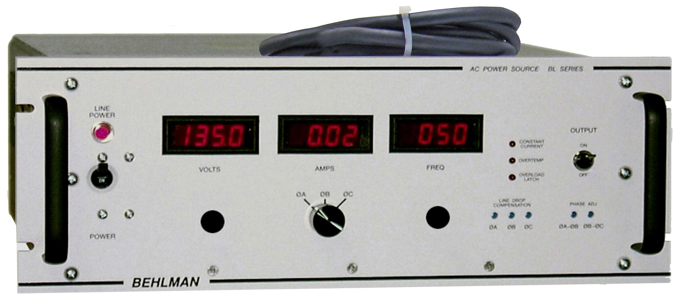 Behlman Announces Availability Of Turn Key Ac Frequency
