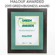 Malouf Honored with Green Business Award for Corporate Excellence