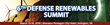 Infocast Announces the 6th Annual Defense Renewables Summit Scheduled for March 2016 in Arlington, VA