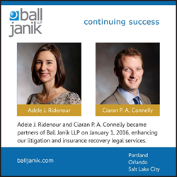 Image of Adele Ridenour and Ciaran Connelly, Partners of Ball Janik LLP