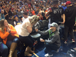 Shane Co. Customer Pops the Question with Gorgeous Halo Diamond Engagement Ring at Denver Nuggets/Miami Heat Game