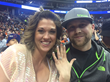 Jamee Shows Her Shane Co. Diamond Halo Engagement Ring at Denver Nuggets Game