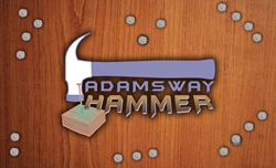 Simply pre-load the Adamsway Hammer with a nail, and hammer away!