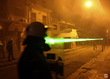 Powerful green laser illuminations have emerged as a new and widespread threat, particularly for law enforcement and military police engaged in riot control and tactical situations
