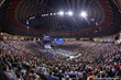 A crowd of about 11,000 packs the Liberty University Vines Center on Jan. 18, 2016 for a Convocation featuring Donald Trump.