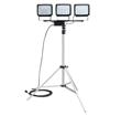Triple Headed Portable LED Flood Light on Telescoping Tripod Released by Larson Electronics