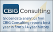 CBIG Consulting Posts Record Revenues for 2015
