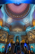 """Lighting design company Got Light created a stunning celebratory experience in City Hall to correspond to the evening's theme, """"Infinite Romance."""""""