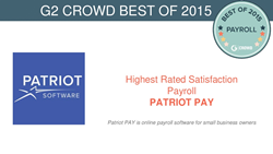Patriot Software Wins G2 Crowd'sHighest Rated User Satisfaction Award