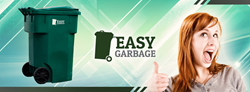The Easy Garbage is a household invention that will surely leave the room clean as well as free up floor space.