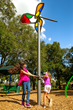 ShadowPlay® SkyFlower® is a fun ground-level, accessible play activity