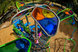 ShadowPlay® SkyFlower® with ADA Hex Deck brings motion ShadowPlay to PowerScape play systems.
