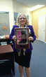 Kathy Post with Elite Women Plaque