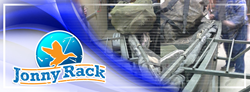 Organize hunting and fishing gear in tight spaces with the Jonny Rack!