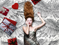 Winged Scarves make an Inspiring Valentine's Day Gift