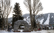 Jackson Town Square with its iconic elk antler arches hosts ice skating throughout Jackson Hole WinterFest, while Snow King Mountain is the venue for events including slalom ski racing.