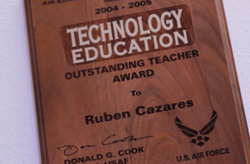 Ruben Cazares, winner of the Outstanding Teacher Award in Technology Education.