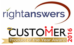 RightAnswers wins 2016 CUSTOMER Product of the Year Award