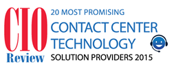 AireContact 20 Most Promising Contact Center Solution Providers of 2015, CIO Review
