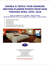 Hampton Golden Meeting Planner Promotion