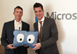 Edsby President & Co-Founder John Myers (L) and Microsoft Vice President of Worldwide Education Anthony Salcito (R)