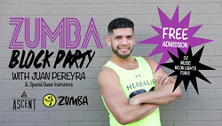 On January 27th at 6:30pm, Ascent Fitness will be hosing a free outdoor Zumba Block Party