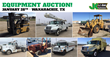 Construction Equipment and Auto Auction, Dallas, TX, January 28, 2016 through JJ Kane Auctioneers