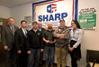 Marlin Steel accepts the Leadership in Safety Award from CNA.