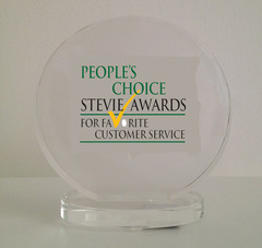 People's Choice Stevie Award for Favorite Customer Service.