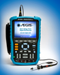 The AEGIS® Shaft Voltage Tester with accessories: Shaft Voltage Tips, Shaft Grounding Simulator, and Magnetic Base