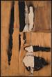 (Alberto Burri: The Trauma of Painting @  K21 Ständehaus) Alberto Burri, Combustione legno, 1957 © Fondazione Palazzo Albizzini Collezione Burri, Città di Castello/ VG Bild-Kunst, Bonn 2016