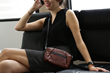 The Abby iPhone Case—mahogany naturally-pebbled leather