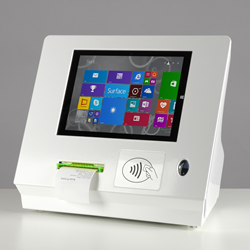 Integrator Pro Tablet Enclosure with Contactless Reader, Biometric Finger Print Reader and Printer