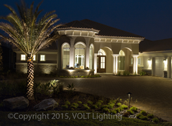 VOLT Lighting products used in landscape lighting project.