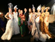 Sue Wong Breathtaking Fashion Installation with Prestige Private Air