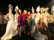 Actress Sofia Milos, Actress Jacqueline Murphy and Sue Wong with SUE WONG Fashion Installation Models - Photo by Greg Doherty