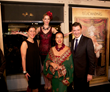 Mrs. Sanja Coric Grgic, Sue Wong and Consul General of Croatia Sinisa Grgic, Ph.D. with SUE WONG Fashion Installation Model - Photo by Greg Doherty