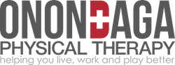 onondaga physical therapy logo and banner, helping you live, work and play better