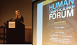 "Lori Blaker, President/CEO of TTi Global speaks at ""Human Trafficking Forum"" hosted by Oakland University"