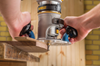 Woodworkers will discover that with the new Compact Router Sub-base from Rockler, template-routing can be done quickly and precisely.
