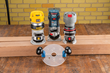 Rockler's Compact Router Sub-base is predrilled for quick mounting to the fixed bases of the most popular Bosch, DeWalt and Porter-Cable compact routers.
