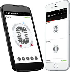 Navigate and Wayfinding for Arena using Beacons
